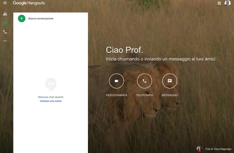 Lezione in streaming con Google Hangouts e Argo DidUp